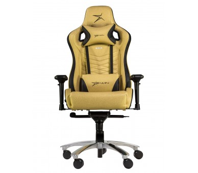 E-WIN FLASH XL SIZE SERIES FLI ERGONOMIC GOLD COMPUTER GAMING OFFICE CHAIR WITH FREE CUSHIONS