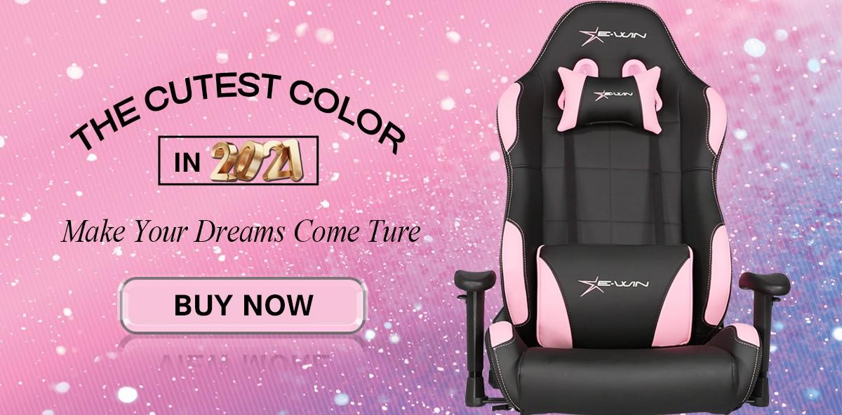 Ewin Pink Gaming Chair